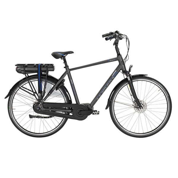 Lugano dutch e-bikes heren zwart